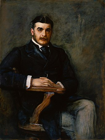 Portrait by Millais (1888) in the National Portrait Gallery, London. It hangs next to Frank Holl's 1886 portrait of Gilbert. Sullivan by Millais.jpg