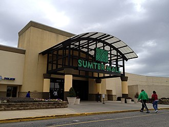 Sumter Mall - Entrance to Sumter Mall, February 2012