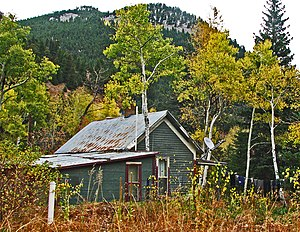 Switzerland Trail - Sunset, Colorado townsite. This house appeared to be the only occupied dwelling in 2010.