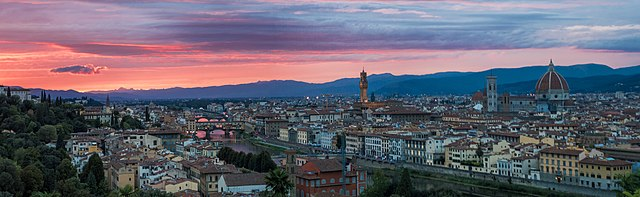 Italian Florence: File:Sunset At Piazzale Michelangelo, Florence, Italy.jpg