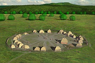 Fort Ancient - Artists conception of the SunWatch Indian Village
