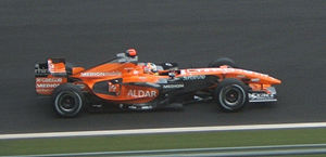 Adrian Sutil - Sutil driving a Spyker F8-VII at the 2007 French Grand Prix