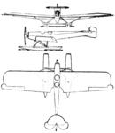 Svenska S.II 3-view Le Document aéronautique October,1926.png