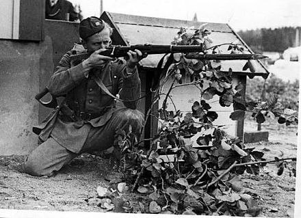 A Swedish soldier during World War II. Sweden remained neutral during the conflict. Swedish soldier during ww2.JPG