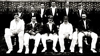Percy Chapman - The MCC team that toured Australia in 1922–23: Chapman is sitting on the front row on the extreme left.