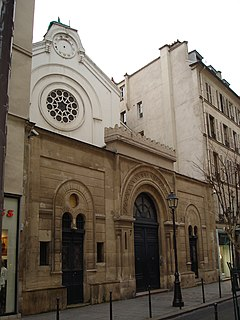 Synagogue located in Paris, in France.