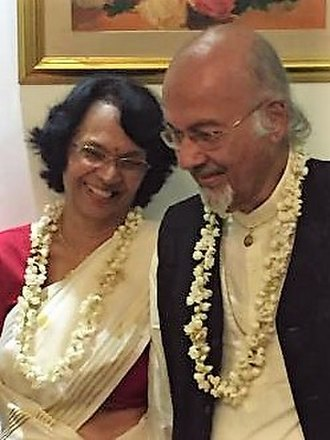 T. J. S. George - TJS George and wife Ammu at their 60th wedding anniversary, Bangalore, 2017