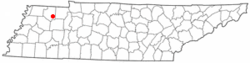 Location of Gleason, Tennessee