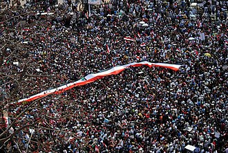 Timeline of the Egyptian Crisis under the Supreme Council of the Armed Forces - Hundreds of thousands of people protesting in Tahrir Square on 1 April 2011