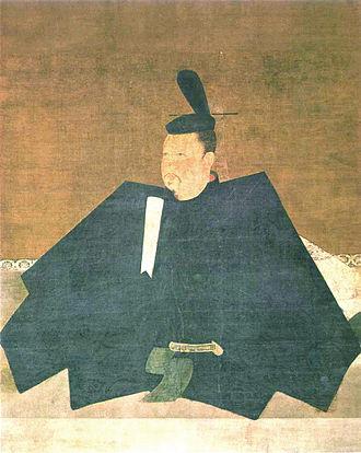 Taira no Shigemori - Portrait of Taira no Shigemori, attributed to Fujiwara No Takanobu. Color on silk.