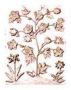Détails des motifs floraux.