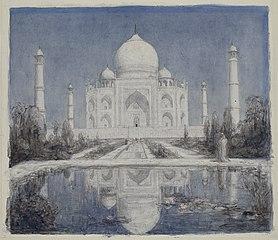 Taj Mahal au clair de lune