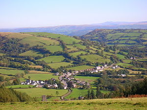 Talley and the Beacons beyond from community woodland - geograph.org.uk - 611203.jpg