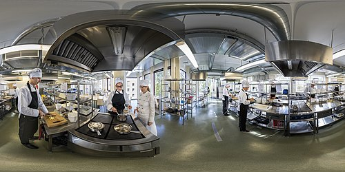 360° view on the Tallinn School of Service cook's laboratory