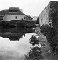 Tapolca 1930, Kistó, szemben a Malom köz kőhídja. - Fortepan 10542.jpg