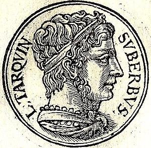 English: Tarquinius Superbus was the seventh K...