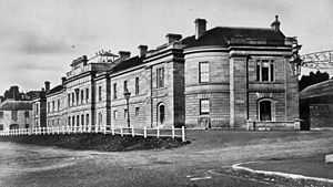 Parliament House, Hobart - A photograph of Parliament House in 1869.