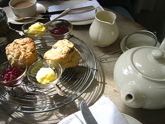British cuisine - The custom of afternoon tea and scones has its origins in Imperial Britain.