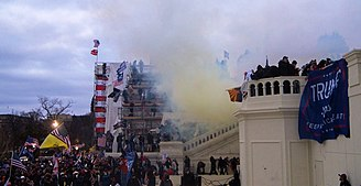 Tear Gas outside United States Capitol, From WikimediaPhotos
