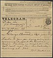 Telegram to Prime Minister John A. Macdonald announcing the completion of the Canadian Pacific Railway.jpg