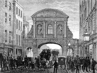 Temple Bar, London principal ceremonial entrance to the City of London