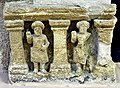 Temple model with men from Hatra, Iraq. 2nd-3rd century CE. Sulaymaniyah Museum.jpg