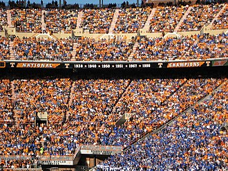 College football national championships in NCAA Division I FBS - Tennessee's national championship claims, as posted in their Neyland Stadium