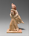 Terracotta group of two girls playing a game known as ephedrismos MET DT1070.jpg