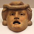 Terracotta mask of young man 2nd century BC Staatliche Antikensammlungen 01.jpg