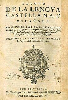 <i>Tesoro de la lengua castellana o española</i>