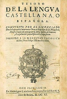 tesoro de la lengua castellana o española wikipedia
