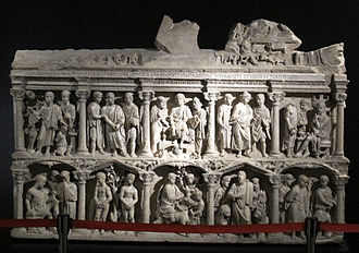 Sarcophagus of Junius Bassus - Front (original)
