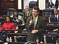 Thad Altman debates a measure being considered on the House floor.jpg
