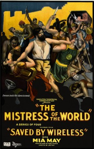 The Mistress of the World - American promotional poster from the re-edited 1922 version, Number 4. Saved by Wireless