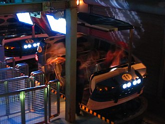 The Amazing Adventures of Spider-Man - One of the vehicles at the load station in Universal Studios Japan