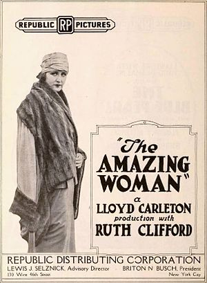 The Amazing Woman - Advertisement for film