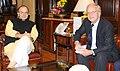 The Ambassador of Netherlands to India, Mr. Alphonsus Stoelinga meeting the Union Minister for Finance and Corporate Affairs, Shri Arun Jaitley, in New Delhi on November 25, 2016.jpg
