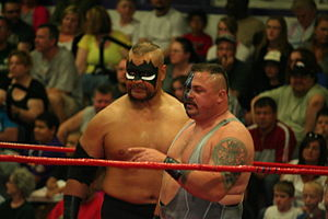 The Barbarian (wrestler) - Barbarian with Buz at an independent event in 2013.