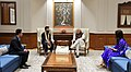 The Captain of the Indian Cricket Team, Virat Kohli and noted actor Anushka Sharma calls on the Prime Minister, Shri Narendra Modi, in New Delhi on December 20, 2017.jpg