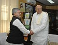 The Chief Minister of Andhra Pradesh, Shri K. Rosaiah meeting the Union Minister for Rural Development and Panchayati Raj, Dr. C.P. Joshi, in New Delhi on February 05, 2010.jpg