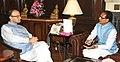 The Chief Minister of Madhya Pradesh, Shri Shivraj Singh Chouhan meeting the Union Minister for Finance, Corporate Affairs and Information & Broadcasting, Shri Arun Jaitley, in New Delhi on November 06, 2015.jpg