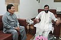 The Chief Minister of Sikkim, Shri Pawan Chamling calls on the Union Minister for Consumer Affairs, Food and Public Distribution, Shri Ramvilas Paswan, in New Delhi on July 17, 2014.jpg