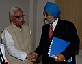 The Chief Minister of West Bengal, Shri Buddhadeb Bhattacharya meeting with the Deputy Chairman, Planning Commission, Dr. Montek Singh Ahluwalia to finalize Annual Plan 2008-09 of the State, in New Delhi on February 06, 2008.jpg