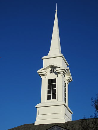 Ward (LDS Church) - LDS churches use steeples instead of crosses