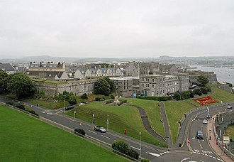 Royal Citadel, Plymouth - The western view of the Citadel from the balcony of Smeaton's Tower