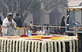 The Defence Minister, Shri A. K. Antony paying homage at the Samadhi of Mahatma Gandhi on the occasion of Martyr's Day, at Rajghat, in Delhi on January 30, 2014.jpg