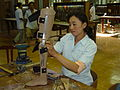 The ICRC produces low-cost prosthetics for landmine victims in Cambodia, 2004. Photo- AusAID (10729578583).jpg