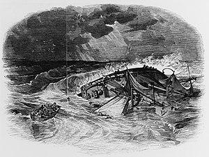 USS Somers (1842) - Loss of USS Somers off Vera Cruz