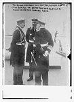 The Kaiser, Admirals von Holtzrendorff and von Tirpitz on board the Hohenzollen discussing the coming race. LCCN2014688376.jpg