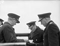 The King Pays 4-day Visit To the Home Fleet. 18 To 21 March 1943, Scapa Flow, Wearing the Uniform of An Admiral of the Fleet, the King Paid a 4-day Visit To the Home Fleet. A15273.jpg
